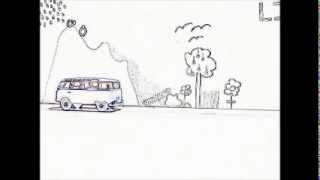 America Music Video -  Hippie Van Animation - A horse with no name