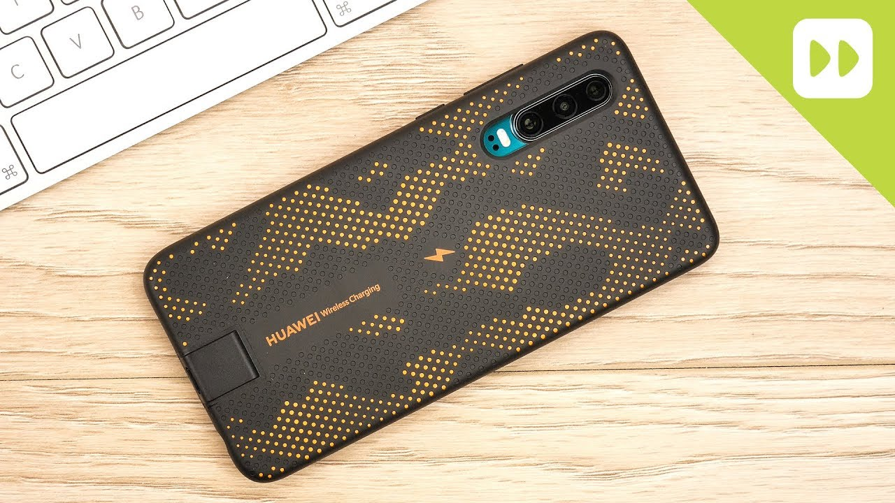 Official Huawei P20 Wireless Charging Case   Orange
