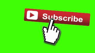 Animated Subscribe Button|Green Screen Footage