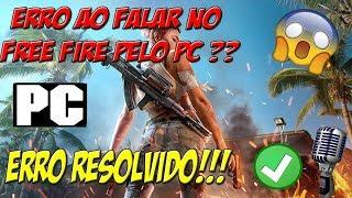 COMO ARRUMAR O ERRO DE VOZ DO FREE FIRE NO EMULADOR (PC)