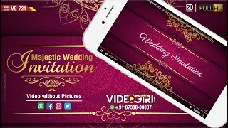 Majestic Wedding Invitation Video | without Pictures | Save the date video | VG-721