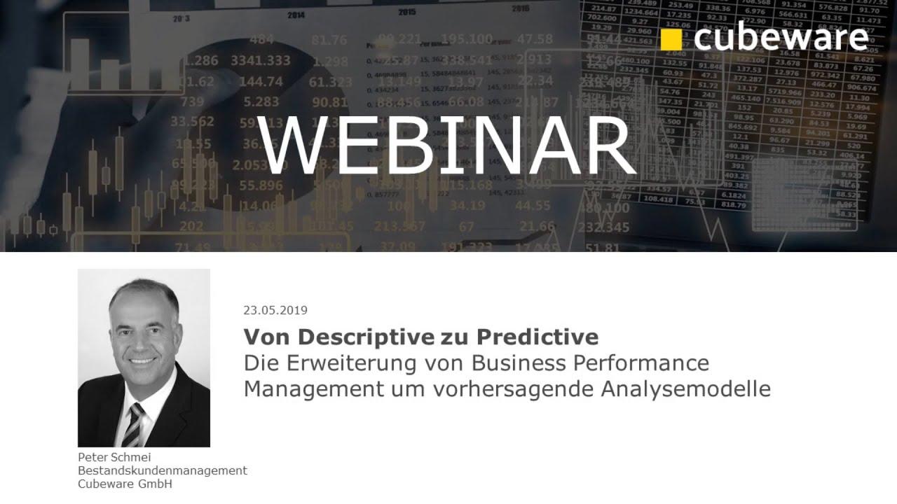 Von Descriptive zu Predictive mit der Cubeware Solutions Plattform