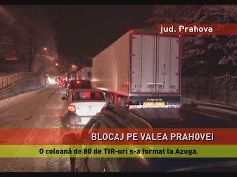 Blocaj pe Valea Prahovei