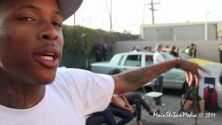 "YG Feat. Tyga & Nipsey Hussle ""Bitches Aint Shit"" behind the scenes with MainStr3am Media"