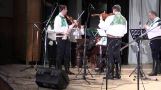 STRÁŽNICE-Cimbálová muzika Mirka Menšíka s primášem Jiřím Veselským ze Strážnice