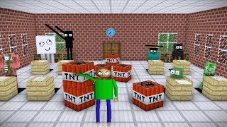MONSTER SCHOOL : Baldi VS Mobs!