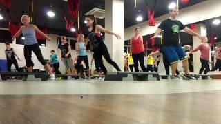Step  aerobics by Denis Stoyanova the city of Odessa 16.01.2017