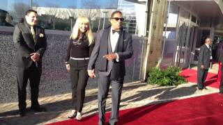 Lifetime Achievement Award Recipient Charlie Wilson and Wife on the Red Carpet 2013 Trumpet Awards