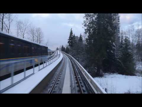 World's Longest Driverless Rail System SkyTrain Evergreen Extension No Music