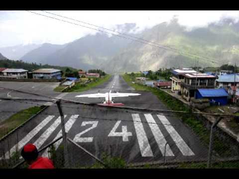 Scary takeoff – Lukla, Nepal