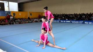 Gymnastics - Acrobatic Portuguese district championship - WG Juvenile ACM