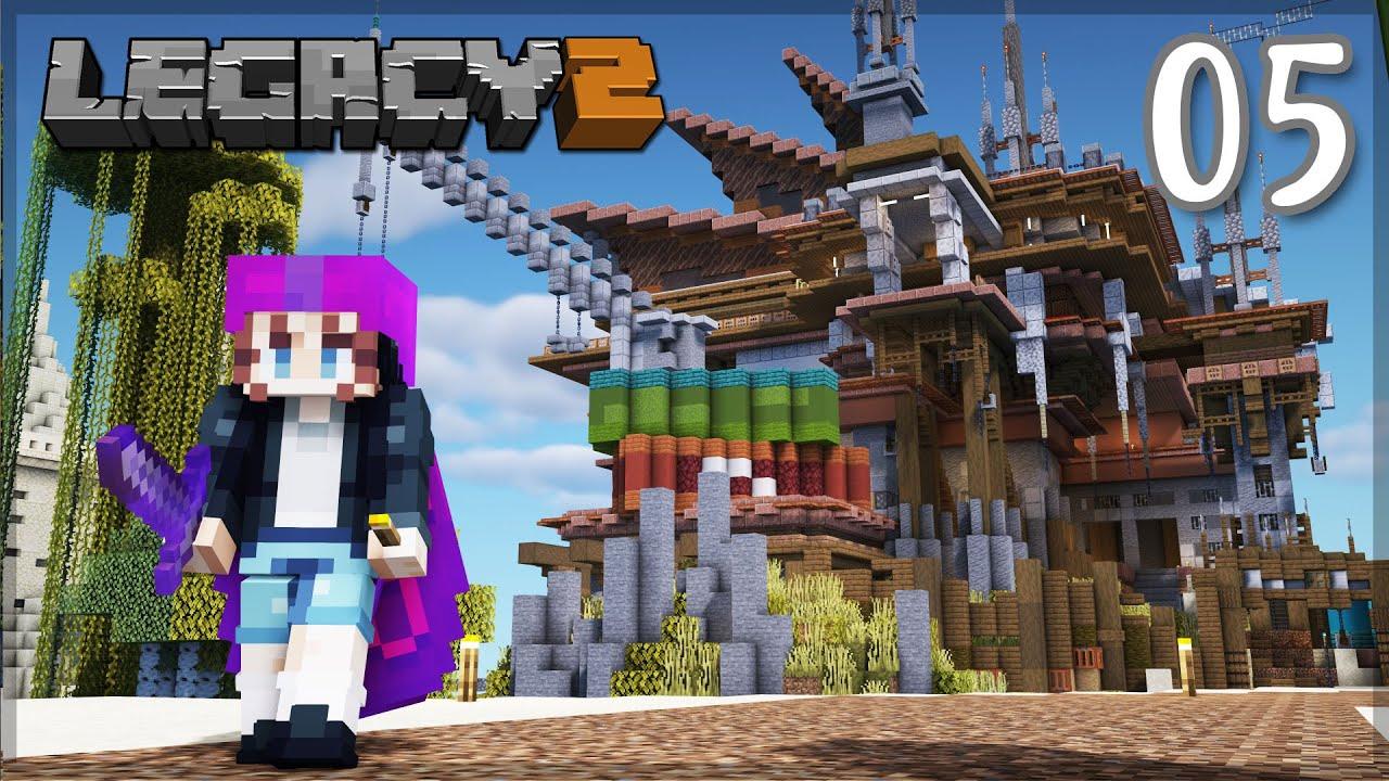 PearlescentMoon - HUGE Base Expansion! Phantom Dragon? | LegacySMP: Episode 5 | Minecraft 1.16 Survival Let's Play