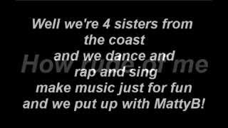 P!nk - Get The Party Started - Lyrics (MattyBRaps ft Haschak Sisters & Adee Sisters) (HD)
