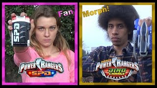 S.P.D. Pink & Dino Charge Gold (Power Rangers Fan Morph) *Retro Style / No VFX*