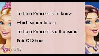 To be a Princess / Popstar Lyrics Barbie