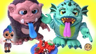 Making Playdoh Food for Crate Creatures Surprise with LOL Surprise Punk Boi