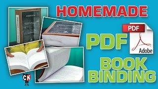 How to Homemade E- Book Binding   अब घर बेठे  करे बुक बाईन्डींग