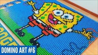 SPONGEBOB SQUAREPANTS MADE FROM 5,400 DOMINOES   Domino Art #6