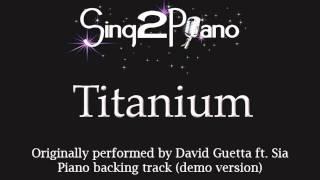 Titanium (Piano backing track) David Guetta ft. Sia