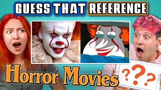 GUESS THAT HORROR MOVIE REFERENCE! (React)