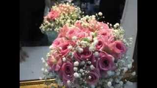 Ramo de novia con rosas pitimini rosas o aqua