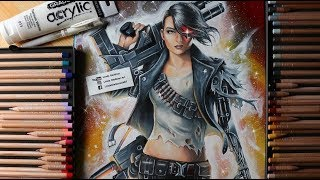 Mythos Rebel Terminator Fanart! *sexy female terminator*