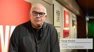 Óscar Mariné Big Bang: el artista guía a los alumnos de Diseño por su exposición