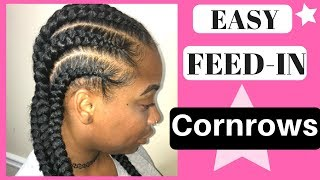 How to Do Feed in Cornrow Braids tutorial