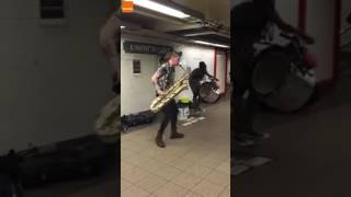 Throwback to our favorite subway buskers, TOO MANY ZOOZ.