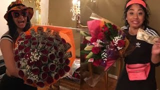 #CardiB & Hennessy Carolina give mother bouquets of flowers & MONEY for Mother's Day 2017! #LHHNY