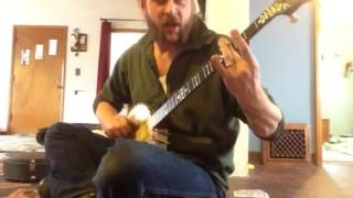 """Ace of Spades"" by Motorhead, mod clawhammer banjo cover feat. tribute Lemmy 'stache, R.I.P.!"