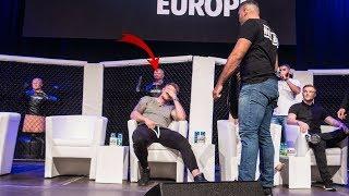 Kickbox-Weltmeister auf der Bühne gedemütigt! Michael Smolik verschämt und sprachlos!