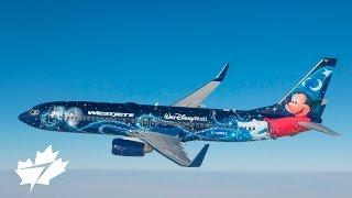 Air-to-air: WestJet #MagicPlane in flight