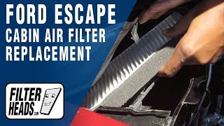 How to Replace Cabin Air Filter 2010 Ford Escape