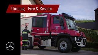 Unimog U218 paloautona Itävallassa