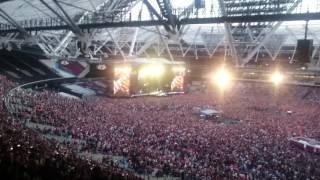 Guns N Roses live at London Olympic Stadium.