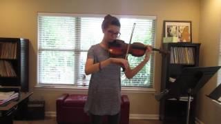 Adriana Fortier on violin and Aaron Seiler on piano-Liebesleid by Fritz Kreisler.