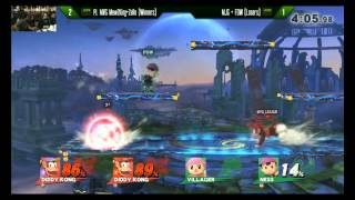 APEX 2015 2v2 Smash 4 Finals (Last Set Snippet) - PL MVG Mew2King + Zero vs. MJG + FOW