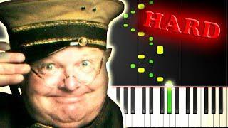 BENNY HILL - YAKETY SAX - Piano Tutorial
