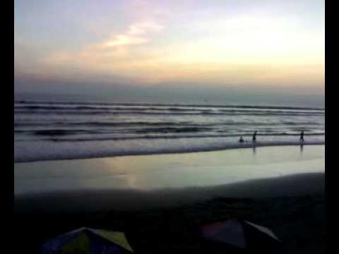 Evening at Cox's Bazar sea beach