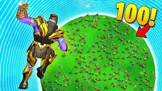 THANOS vs. 100 PLAYERS! - Fortnite Fails & Epic Wins #58 (Fortnite Funny Moments)