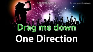 One Direction 'Drag me down' Instrumental Karaoke Version with vocals and lyrics