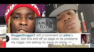 Young Thug Gives Plies 24 HOURS To Remove a Video of his Daughter from IG or The Dicks Coming Out!