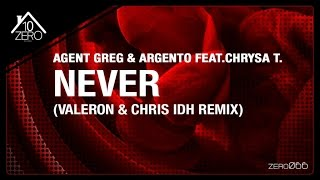 Agent Greg & Argento feat. Chrysa T. - Never (Valeron & Chris IDH remix) Zero066