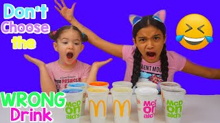 Don't Chose the wrong McDonald Drink Slime Challenge!!!