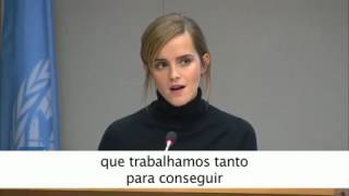 Hermione, quer dizer, Emma Watson fazendo apologia ao Feminismo