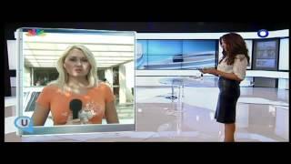 gossip-tv.gr Με κόκκινες γοβες και δερματινη φουστα η Τσαπανιδου