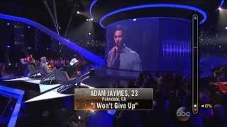 Rising Star - Adam Jaymes Sings 'I Won't Give Up'