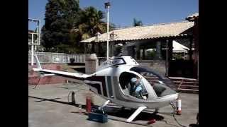 Helicóptero funcionando