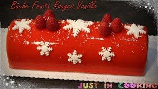 ❅ Recette de Bûche de Noël aux Fruits Rouges et à la Vanille ❅